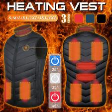 9 Areas Mens Heating Jacket Heated USB Battery Powered Self Heating Warmer Vest