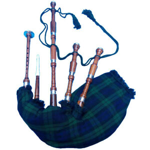 HM New Highland Bagpipe Rosewood Silver/Scottish Bagpipes/Irish Bagpipe Rosewood