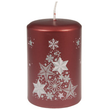 Weihnachtskerzen| Weihnachtsmotiv | Rot | Christmas | Sterne | Weihnachten
