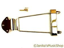 GOLD TRAPEZE Tail Piece TAILPIECE for electric o SEMI-ACOUSTIC / JAZZ CHITARRA NUOVO