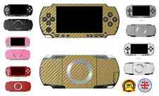 3D Textured Carbon Fibre Skin Sticker Vinyl Wrap for Sony PSP 3000 Slim & Lite