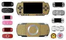 3D testurizzata fibra di carbonio Pelle Autoadesivo In Vinile Avvolgere Per Sony PSP 3000 SLIM e LITE