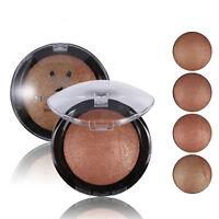 Womens Makeup Bronzer Blush Palette Baked Cheek Color Bright Blusher Highlighter