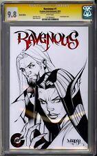 RAVENOUS #1 CREATURE ENTERTAINMENT CGC SS 9.8 JOSE VARESE SKETCHED BLANK VARIANT