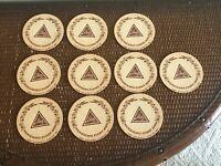 Set Of 10 Vintage Blatz Beer Coasters LaCrosse Wisconsin Older C3
