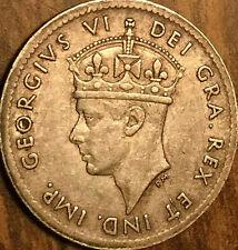1943 NEWFOUNDLAND SILVER 5 CENTS COIN
