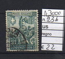 FRANCOBOLLI ITALIA REGNO USATI N°236 (A3000)