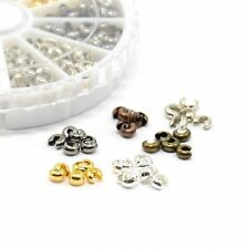 590pcs/box Bronze/Red Copper/Black/Silver/Golden/Platinum Iron Crimp Beads Cover