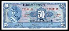El Banco de Mexico 50 Pesos 29.12.1972, Serie BOM-X. P-49u. UNC.
