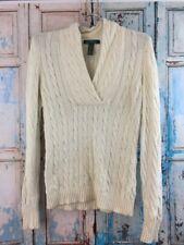 LRL Lauren Ralph Lauren Sweater Women's XS Cream Cable Knit