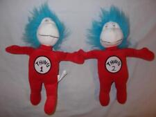 "Thing 1 & 2 Cat in the Hat Movie Plush 11"" Dr Seuss Kohl's Cares 2003 Used 1B1"