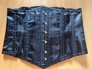 Underbust steel boned corset, size 36 waist, tight lacing, black, sexy, gothic.