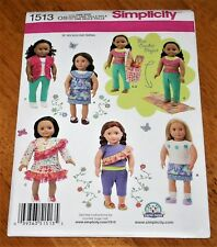 Simplicity Pattern #1513 Doll Wardrobe for 18 Inch Dolls - New - 8 Designs