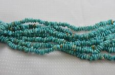 """Turquoise Nugget Chips 3-5mm Gemstone Beads 16"""" Strand Genuine Natural Turquoise"""