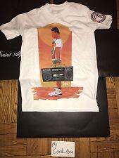 Jordan Fly89 Pop Up Radio Raheem 40 Acres DTRT T-shirt White Sz Small Spike Lee