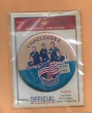"SHUTTLE CHALLENGER STS-41G  OFFICIAL NASA  BUTTON 3 3/8""  NEW IN PACKAGE"