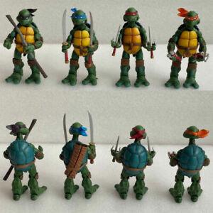 4 PCS NECA TMNT Teenage Mutant Ninja Turtles Color Headband Action Figures Toys