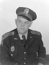 "CB81 original photo NEGATIVE 4x5"" Columbus IN 50s Herbert Moore police studio"