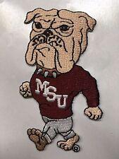 "Mississippi state patch MSU bulldog patch 3/5"" tall iron bulldog patch"