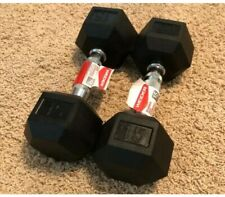 Weider Rubber Coated Hex Dumbbells 15 Lbs Pair - Free Shipping