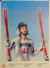 VINTAGE 1984 Sarajevo Olympics Poster - Designed by Gottfried Helnwein - MINT