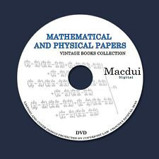Mathematical and Physical papers Old books 2 PDF 1 DVD Mathematics Physics
