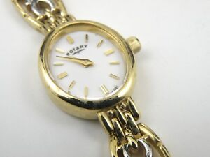 Ladies Rotary LB02130/BR/02 Vintage Gold Plated Quartz Watch - 100m