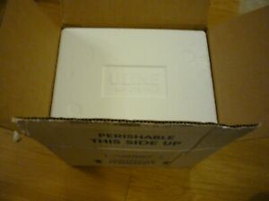 """ULine Styrofoam Insulated Shipping Cooler w/ lid and outer box, 11x9x7.75"""" used"""