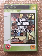 BRAND NEW FACTORY SEALED GRAND THEFT AUTO SAN ANDREAS FOR ORIGINAL XBOX