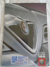 ALFA ROMEO 166 accessori BROCHURE GAMMA Oct 1998 testo danese