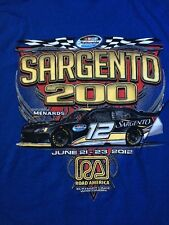 NWOT- 2012 ROAD AMERICA T SHIRT ~ M ~ Sargento 200 Race Car ~ Elkhart Lake, WI