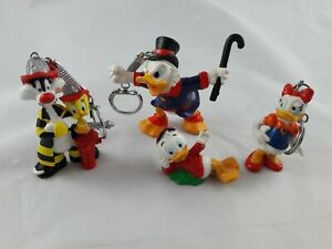 Donald Duck, Sylvester and Tweety pie PVC Bully Figures Keyrings Warner Bros