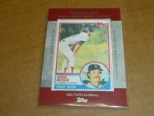 2013 Topps WADE BOGGS MANUFACTURED ROOKIE CARD PATCH RED SOX E3881