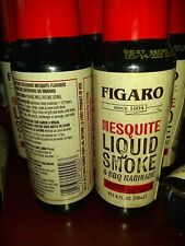 7  Bottles Figaro Mesquite Liquid Smoke & Barbecue Marinade 4 oz  BB 5/23 FRE SP