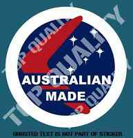VINTAGE AUSTRALIAN MADE DECAL STICKER PATRIOTIC AUSTRALIANA DECALS STICKERS