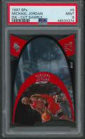 1997 SPx Sample Die-Cut Michael Jordan PSA 9 Card - LOW POP (48534374)