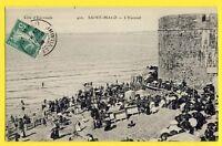 cpa Bretagne Ecrite en 1909  SAINT MALO (Ille et Vilaine) L'ÉVENTAIL Animés