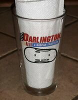 Budweiser BUD Darlington Speedway Vintage Pint BEER DRINK Glass NASCAR RACING