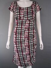 Knee Length Polyester Checked Petite Dresses for Women