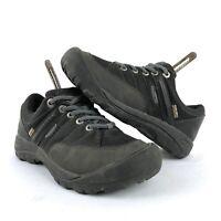 Keen Presidio Women's Size 6 Black Lace Up Walking Hiking Shoes Waterproof EUC
