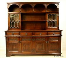 Old Charm Welsh Dresser Tudor Brown FREE Nationwide Delivery