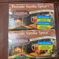 Celestial Seasonings Fireside Vanilla Spice Herbal Tea 2 Box Pack