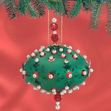 Sunrise SNOWFLAKE CAROUSEL 12 Beaded Sequin Ornaments Kit NEW