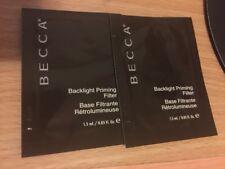 2 X Becca Backlight Priming Filter/base primer sample 1.5ml each