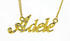Collier Prénom ADELE 18K Plaqué or - Anniversaire Cadeau De mariée Accessoires