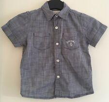 Boys Blue Short Sleeved Junior J Shirt Size 2-3 Years