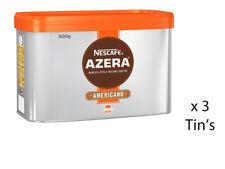 NESCAFE AZERA AMERICANO INSTANT COFFEE TIN 500g WHOLESALE x 3 TIN'S 201946