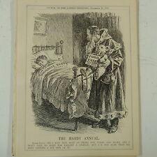 "7x10"" punch cartoon 1912 THE HARDY ANNUAL bonar law / santa claus / food tax"