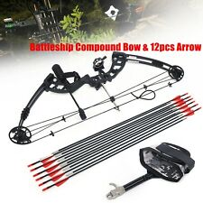 Pro Compound Right Hand Bow Arrow Kit 30-60lbs Archery Target Hunting Camo Set
