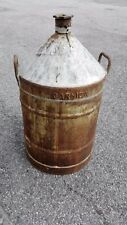 Lotto grande contenitore otre damigiana antico CARNICA olio cooperativa  tappo